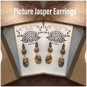 Casey Keith Design Jewelry - Picture Jasper Earrings II